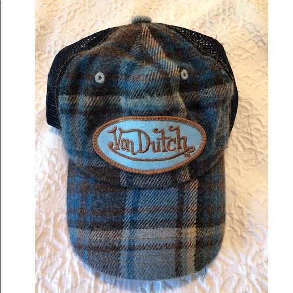 Von Dutch Vintage Patch Flannel Trucker Hat. M 5acd277345b30ccd118a4b00 5501effe225